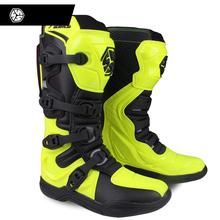 SCOYCO motocykl Off-road długie buty Motocross wyścigi boot Hard gear jazda kolana wysokie buty ciężki ochronny sprzęt buty tanie tanio CN (pochodzenie) Oddychające Mężczyźni Skórzane Podkolanówki 39-46 6 5-12