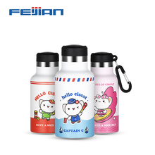 FEIJIAN Mini Thermos Bottle Kids Cup 3D Print 304 Stainless Steel Thermo cup Vacuum Cups Coffee Mugs children belly mug school
