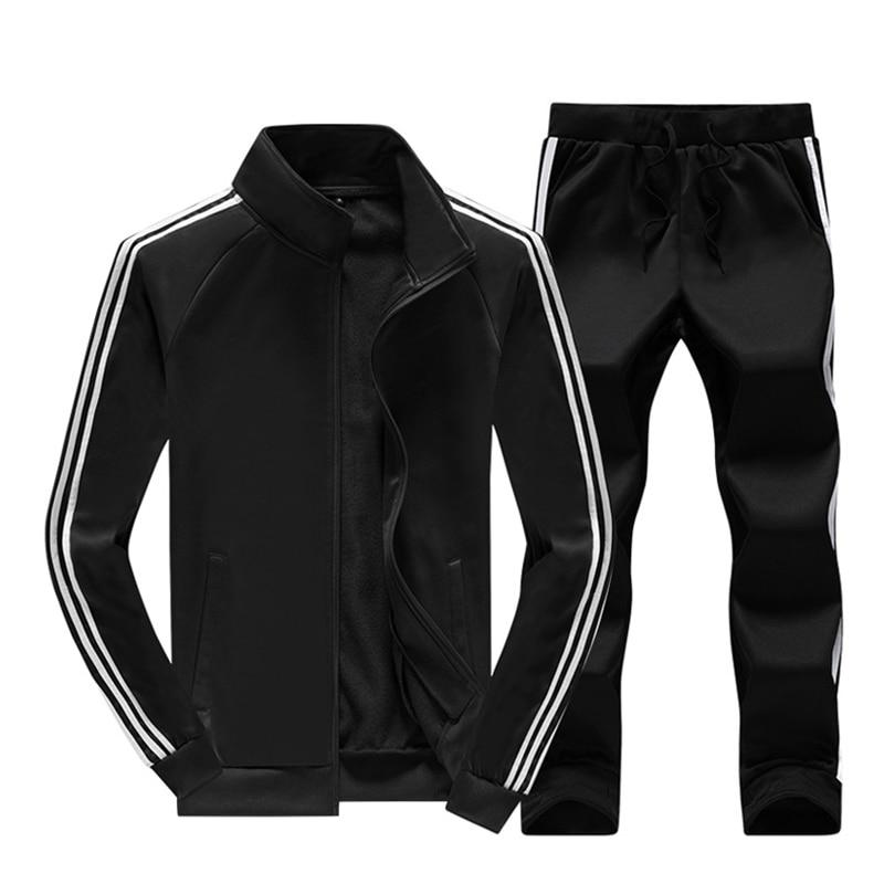 Брендовые новые мужские комплекты, Модный осенне весенний спортивный костюм, толстовка + спортивные штаны, Мужская одежда, комплекты из 2 предметов, тонкий спортивный костюм Спортивные костюмы      АлиЭкспресс
