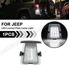 Lampe de plaque d'immatriculation LED pour Jeep Wrangler, feu de plaque d'immatriculation, 2007 2008 2009 2010 2011 2012 2013 2014 2015 2016 2017