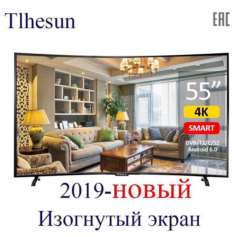 TV polegada UA550SF 55 4K Smart TV Android 6.0 TV LED curvado 55 цифрови Televisão TV 4K HDR tela