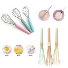 купить Kitchen Whisk Premium Silicone With Heat Resistant Non-Stick Silicone Whisk Cooking Tool Whisk Kitchen Gadget Random Color D40 по цене 214.28 рублей