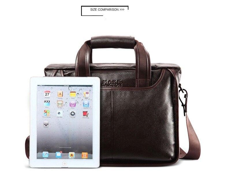 H6b8ff852a93e47a08e2d601ee53c4fe4F 2019 New Fashion cowhide male commercial briefcase /Real Leather vintage men's messenger bag/casual Natural Cowskin Business bag