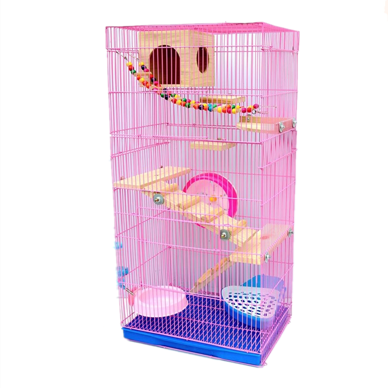 Three-story Demon King Squirrel Honey Bag Blossom Guinea Rat Villa Big Hamster Dragon Cat Standard Golden Flower Cage