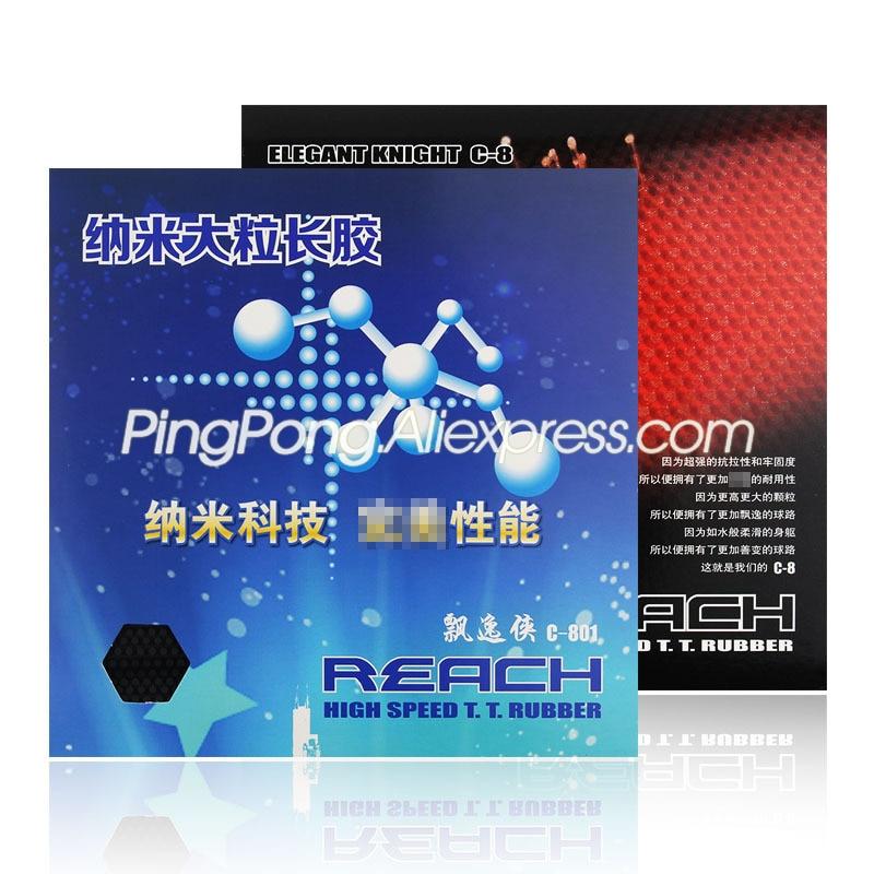 REACH C8 / C801 Table Tennis Rubber (Big Pips, No ITTF Logo) Pips-long REACH C-8 / C-801 LONG PIPS Ping Pong Rubber Topsheet OX