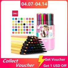 Deli uczniów akwarela Pen Marker do malowania bezpieczne nietoksyczne pędzle kolorowe wysokiej jakości pisaki kolorowe do malowania 36/48 kolorów