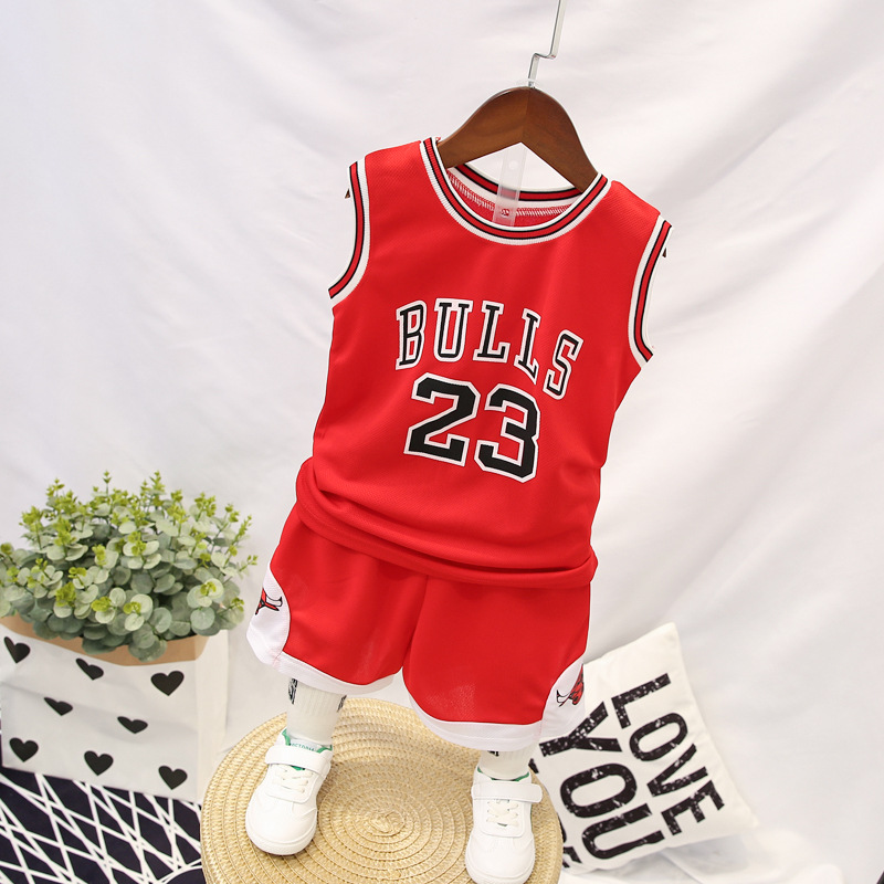 Basketball Wear Cross Border Monopoly 2019 New Style Children Set Young STUDENT'S Performance Wear CHILDREN'S DAY Children's Day