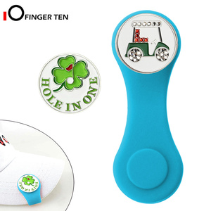 Silicone Golf Hat Clip Ball Marker Holder 1Hat Clip with 2 Ball Markers Strong Magnetic Attach to Pocket Edge Belt Gift