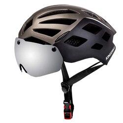 Kask rowerowy światło ostrzegawcze kask rowerowy z goglami kask rowerowy MTB Casco Ciclismo kaski zawór bezpieczeństwa Ultralight L/XL