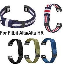 Correa de nailon para reloj Fitbit alta HR, repuesto de pulsera inteligente, de alta calidad
