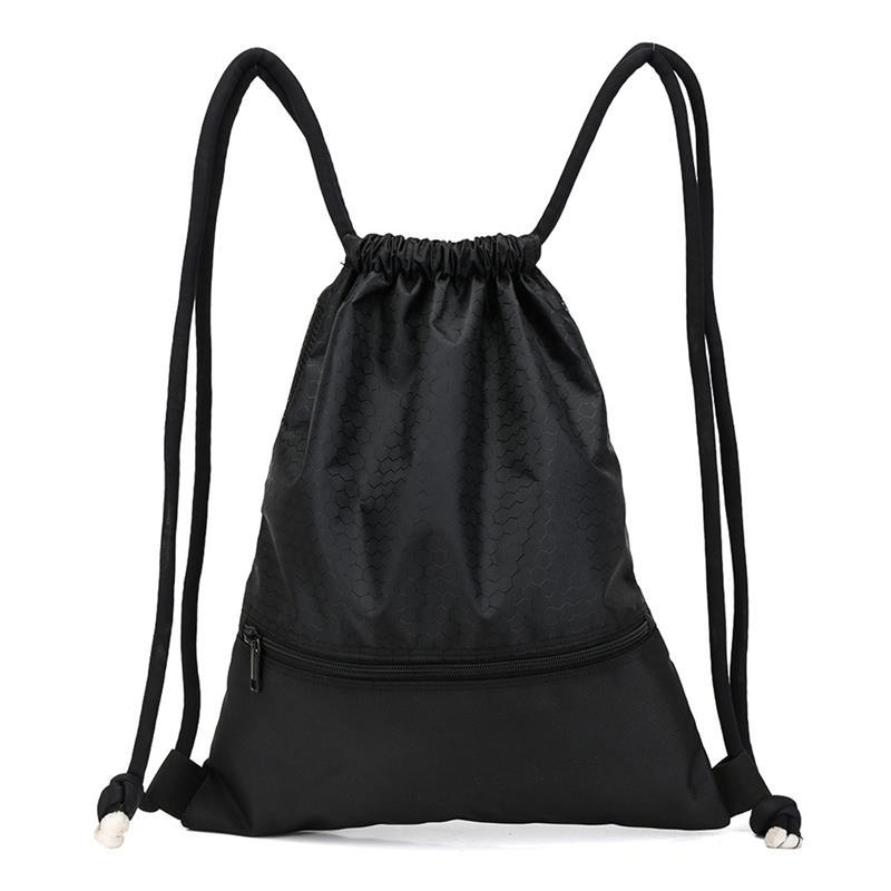 Рюкзак на шнурке, защищенный от брызг, Большой Вместительный рюкзак для спортзала, сумка на шнурке, нейлоновая сумка для продуктов на шнурке