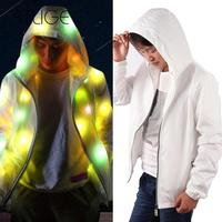 Creative Halloween Waterproof Colorful LED Luminous Costume Clothes For Dancing LED Lighting Coat Clothes For Event Party