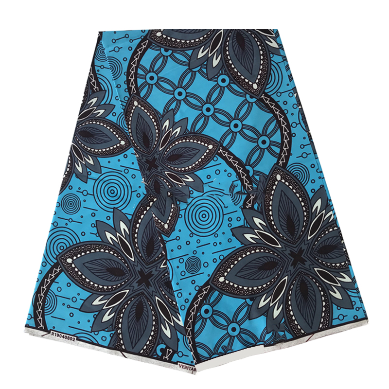 Best Quality African Wax Prints Cotton Fabric 100%Breathable Soft Ankara Style Clothes Material For Sewing By The Yards R-V 4-92