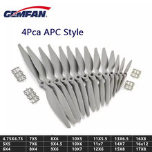 4PCS Gemfan APC Hélice de Nylon 5050 6040 7050 7060 8040 8060 9045 9060 1050 1060 1070 1155 1260 1365 1470 Para RC Avião