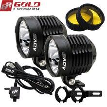 Goldrunway Ontwerp ADV3 Auto Motorrace Vpl V5 Led Licht Koplamp 30W 3000LM 2.5A 3 Flitsers Dimmer Kabelboom + Klem
