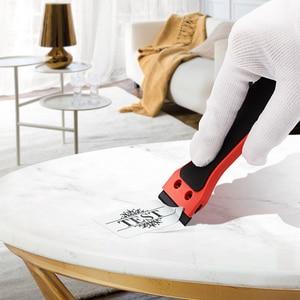 Image 2 - Ehdis segurado raspador de barbear vinil carro embrulho rodo com 10 pçs lâmina de plástico matiz da janela decalque adesivo removedor ferramenta limpeza