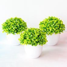 Искусственное растение трава орнамент в стиле бонсай Miniascape сад Отель Настольный Декор с горшком