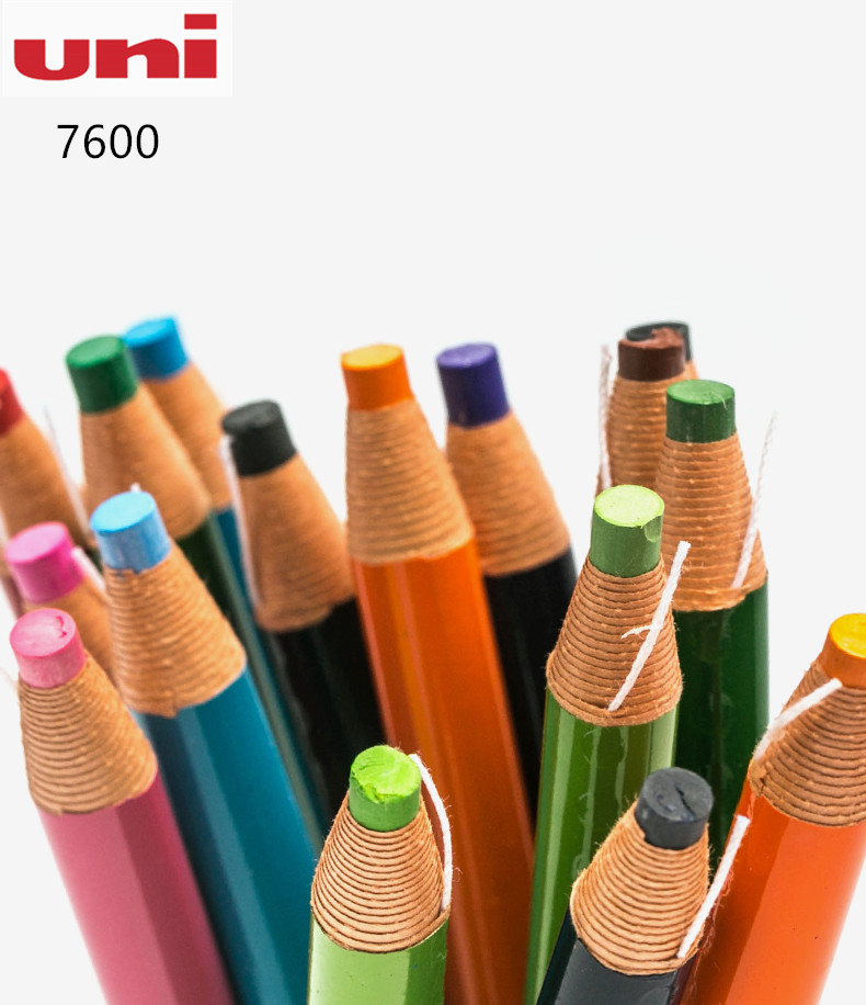 3pcs Japan Mitsubishi Uni 7600 Roll Paper Industry Oily Crayons Pencil Type Environmental Hand Tearing 12 Colors Optional