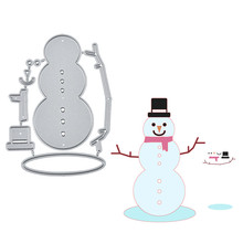 Eastshape Christmas Snowman Dies Metal Cutting for Card Making Scrapbooking Embossing Cuts Stencil Craft