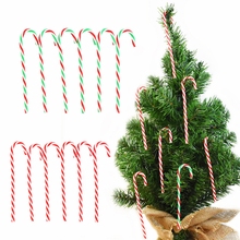 Christmas-Tree Hanging-Pendant Candy-Cane Xmas Home-Ornament Colorful New-Year Plastic