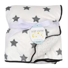 아기 담요 따뜻한 산호 양털 유아 Swaddle 두꺼운 더블 레이어 다양한 만화 유모차 포장 신생아 아기 침구 담요