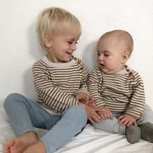 Вязаный свитер для мальчика; Сезон весна маленьких девочек Одежда