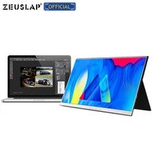 Zeusap 15 polegada usb c hdmi 1920*1080p 72% ntsc pd hdr fone de ouvido porta metal portátil ips tela monitor de jogos