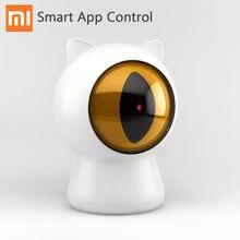 Xiaomi Mijia Petoneer Laser Red Dot Pet Gatos Gatos Teaser Toy USB Recarregável Inteligente Interativo Brinquedo Companheiro Smart App Controle