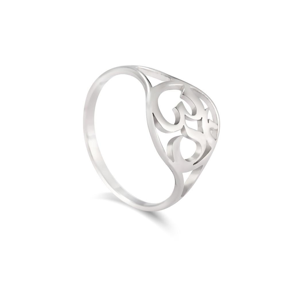 Кольцо для йоги Skyrim, индийское кольцо из нержавеющей стали для йоги, амулет мандалы, готический талисман, повседневное кольцо, украшения в подарок для женщин и девочек