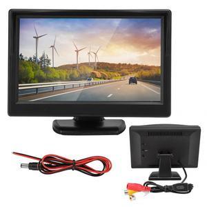 Image 1 - 5in voiture moniteur HD TFT LCD inversion Parking étanche moniteur pour voiture caméra de recul rétroviseur moniteur camara para auto