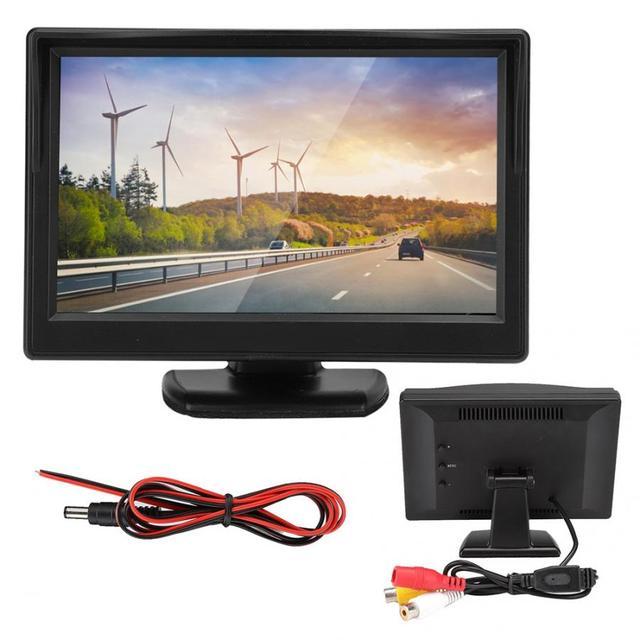 5in voiture moniteur HD TFT LCD inversion Parking étanche moniteur pour voiture caméra de recul rétroviseur moniteur camara para auto