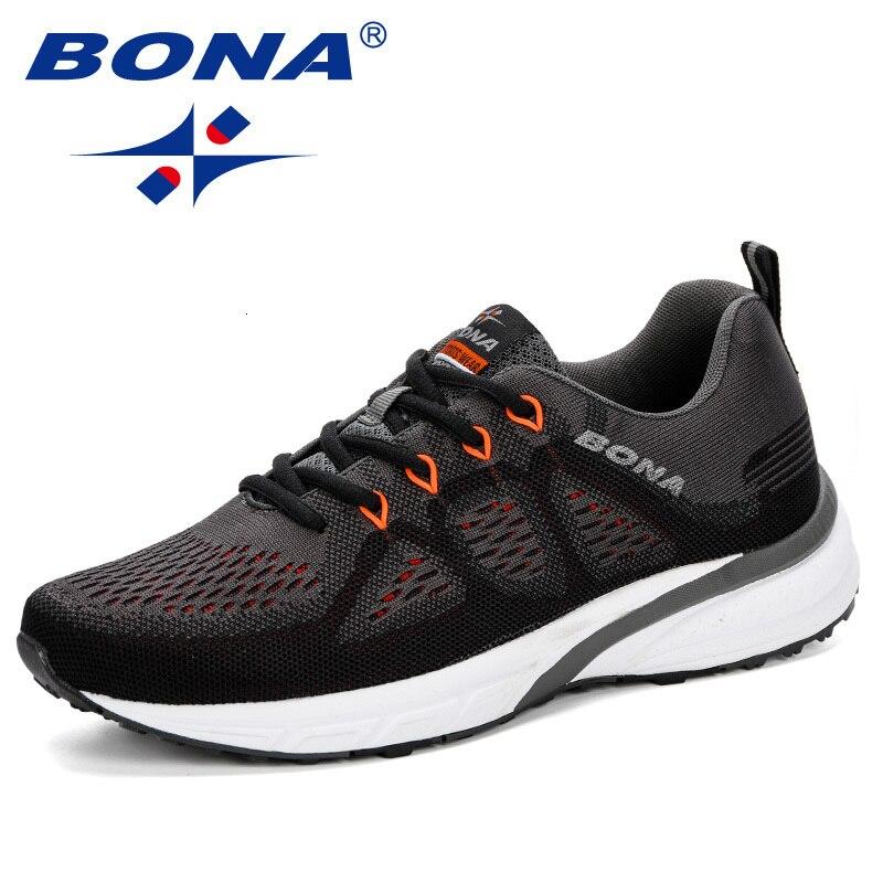 BONA 2019 Turnschuhe Männer Schuhe Sport Mesh Laufschuhe Fly-Stricken OutdoorNice Trend Sporttrainer Schuhe Männer Licht Müßiggänger