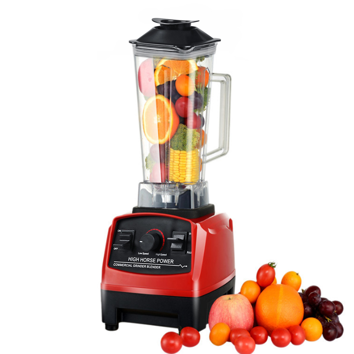 2L 1500W Commercial Grade Food Processor For Blenders Mixer Heavy Duty Fruit Juicer Food Ice Crusher Smoothies Adjustable Speed