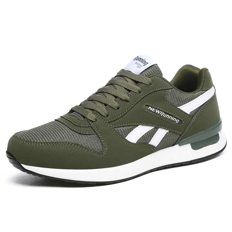 Breathable Running Shoes for Men Outdoor Sport Running Shoes Women Genuine Leather Sneakers Light Casual Anti-skid Walking Shoes 7