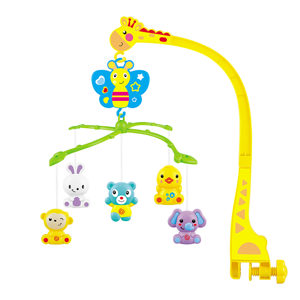 Crib Holder Wind Up Box Music Animal Giraffe Mobile Bed Bell Gift Rotating Bracket Baby Rattle Kawaii Musical Toys