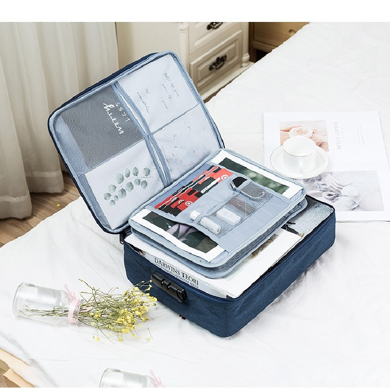 Document Organizer Briefcase Filing-Holder Portfolio Office-Book Zipper IPad A4 Multi