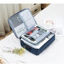 Zipper A4 File Folder Casual Multi Document Organizer Portfolio Filing Holder Office Book Briefcase Storage Case Bag For Ipad