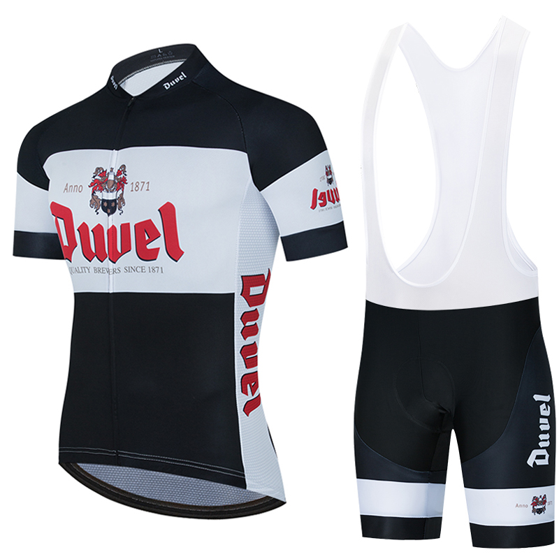 Black DUVEL Beer Team Cycling Jersey Customized Road Mountain Race Top Max Storm Cycling Clothing Five Styles For You To Choose
