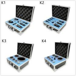 Juego de DT-DIATOOL brocas de diamante en caja brocas de núcleo de diamante soldadas al vacío juegos de sierra de agujero 5/8-11 hilo para cerámica