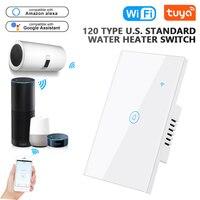 Tuya Smart Life-interruptor calentador de agua WiFi, 2000W, temporizador de aplicación, Control remoto por voz, funciona con Google Home y Alexa