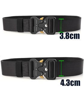 Tactical Belt Nylon Military Army belt Outdoor Metal Buckle Police Heavy Duty Training Hunting Belt 125/135CM 3.8/4.3cm Wide(China)
