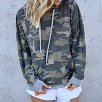 Green Camo Hoodie Women Camouflage Military Fashion Hoodies Clothes Geometry Print Sweatshirt High Strret Pullover Gray/Purple