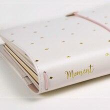 Precioso diario regalo a Girlfrend, TN diario estándar Travler Notebook, espiral PU grueso tamaño de bolsillo planificador diario