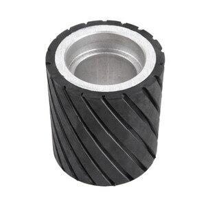 Image 5 - 70x50mm 80x50mm 70x80mm Belt Grinder Rubber Contact Wheel Abrasive Sanding Belt Set Polishing Grinder Sanding Contact Wheel Belt