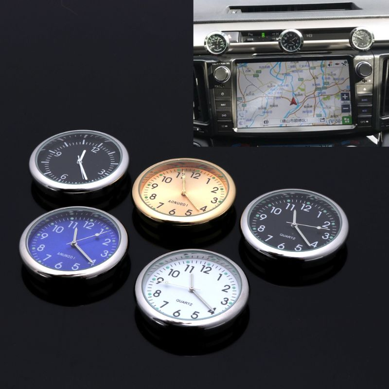 Universal Car Clock Stick-On Electronic Watch Dashboard Noctilucent Decoration For SUV Cars  G6KC