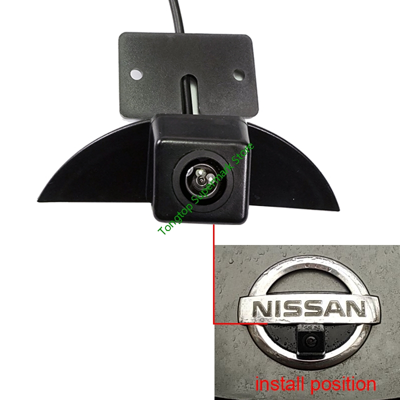 CCD Car Front View Camera Logo Embedded Waterproof for Nissan Altima 2013-2016