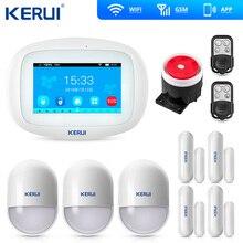 Домашняя охранная сигнализация K52 WIFI GSM с большим сенсорным ЖК экраном, охранная система для взлома, управление через приложение