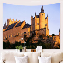 City Building Scenery 3D Printing Wall Tapestry Home Decoration Table Background Cloth Bedroom Living Room Wall Hanging Tapestry недорого