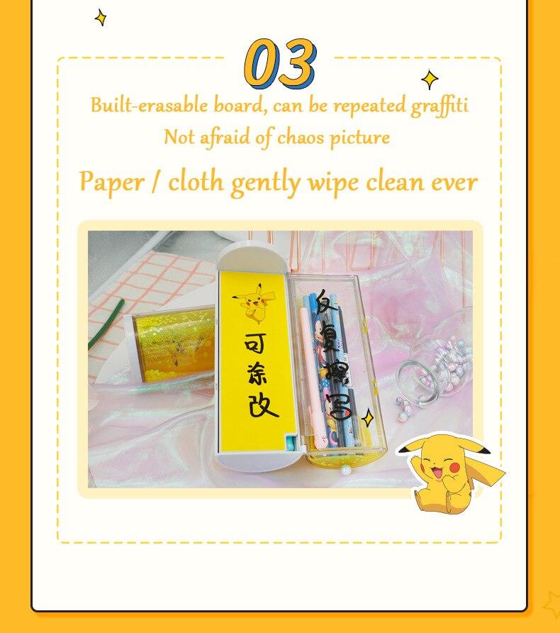 2020 senha kawaii pikachu caixa de lápis