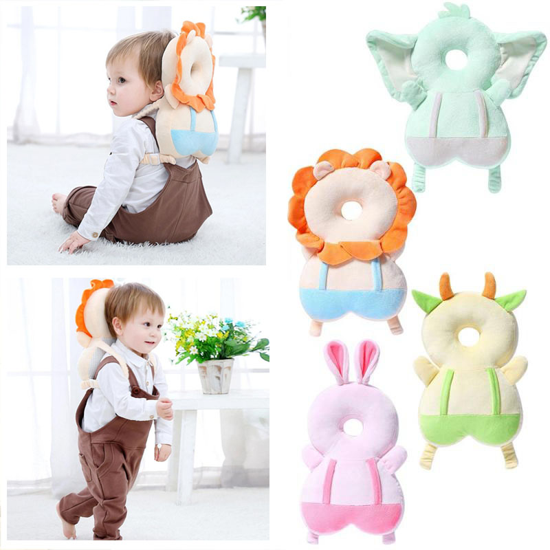 Baby Head Back Protector Pillow Newborn Safety Pillow Toddler Protective Cushion For Learning To Walk Sit Baby Safe Care